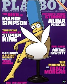 Marge Simpson en la revista Playboy
