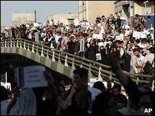 Manifestantes iraníes. Foto de archivo: junio 2009