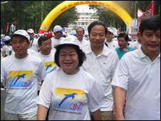 Cựu phó Chủ tịch Trương Mỹ Hoa tham gia đi bộ