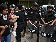 Manifestación en Honduras (10/10/2009)