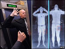 Escáner instalado en el Aeropuerto de Manchester