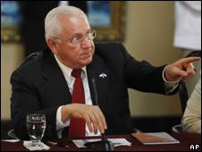 Roberto Micheletti, presidente interino de Honduras