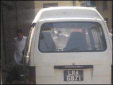لاہور حملہ آوروں کی گاڑی