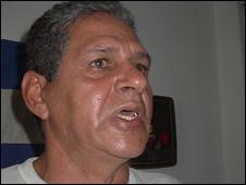 Nelson Aguiar, disidente cubano (foto Raquel Pérez)