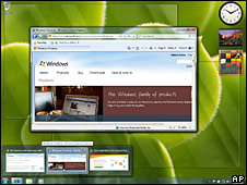Impresión de pantalla de Windows 7