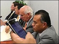 Twitteros en el Senado de la República. Foto: cortesía Senado de la República.
