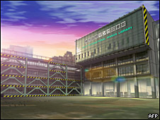 Maqueta de la Biblioteca del Manga.