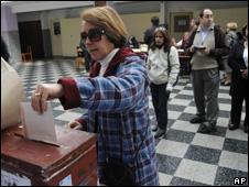 Votante en Uruguay