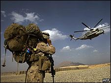 Soldado de EE.UU. en Afganistán