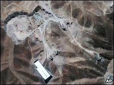 Imagen satelital de lo que los analistas consideran es la planta de Qom.