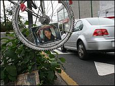 """""""Bicicleta fantasma"""" en Ciudad de México"""