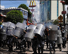 Demonstration in Tegucigalpa