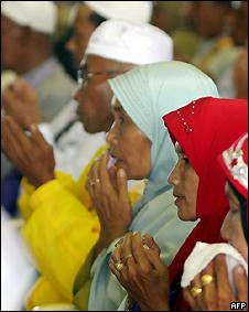 Musulmanes en Meca