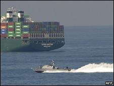 Barco interceptado por la marina israelí