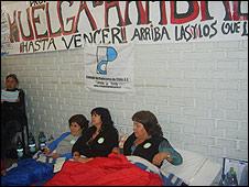Profesores en huelga de hambre