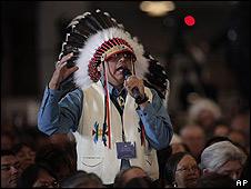 Delegado indio en la Casa Blanca