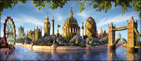 monumentos de Londres feitos com comida