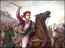 झांसी की रानी की एक पेंटिंग