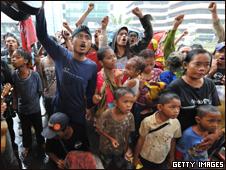 متظاهرون إندونيسيون ضد الفساد
