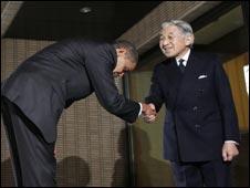 Presiden Obama dan Kaisar Akihito