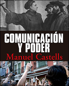 """Portada de """"Comunicación y poder"""" de Manuel Castells"""