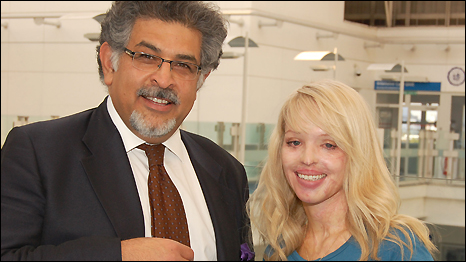 Katie Piper and Dr Jawad