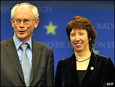 Herman Van Rompuy y Catherine Ashton