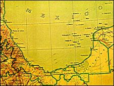 Un mapa de México de 1920