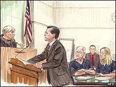 Representação artística do julgamento