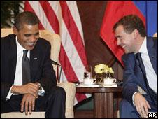 Tổng thống Mỹ, Obama, và Tổng thống Nga, Medvedev