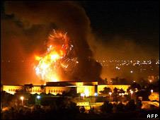 Inicio del bombardeo en la guerra de Irak