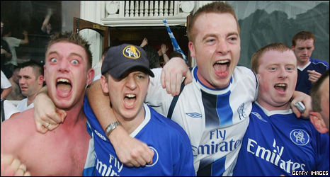 Chelsea football fans, 2005