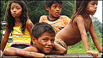 Amazon tribal children