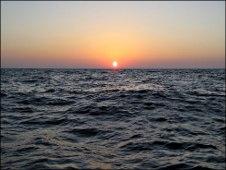Amanecer en el Golfo de México