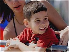 Elián González en Miami en 2000