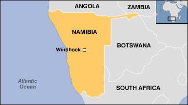 Ramani ya Namibia