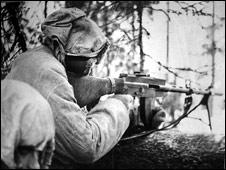 Финский пулеметчик
