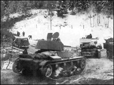 Советские танки в Карелии