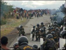 Protesta en Bagua