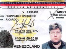 Cédula de Ricardo Fernández Barrueco