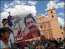 Afueras del Congreso de Honduras