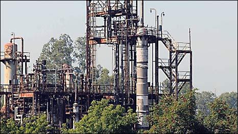 A fábrica da Union Carbide em Bhopal, na Índia
