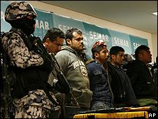 """Supuestos """"Zetas"""" capturados en el operativo"""
