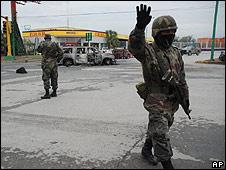 Soldados en Monterrey