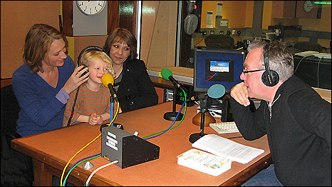 May Witwit and Bee Rowlatt - together now in the Outlook studio, along with Bee's daughter
