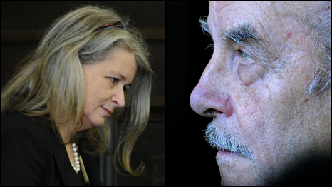 Dr Heidi Kastner (left) - Jaeger/AFP/Getty. Josef Fritzl (right) - Handout/Getty