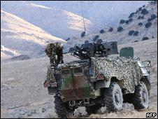 Французские солдаты и БМП в Афганистане