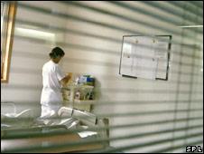 Enfermera en hospital