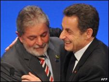 Lula da Silva y Nicolás Sarkozy