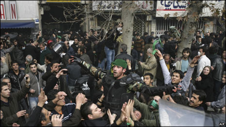 Around 300 people were detained after protests in tehran according to